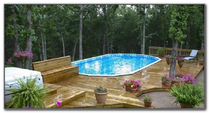 Above Ground Pool Deck Decorating Ideas