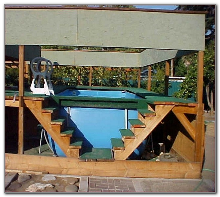 Above Ground Pool Deck Design Plans