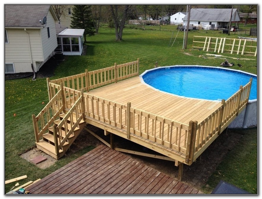 Above Ground Pool Deck Framing Plans