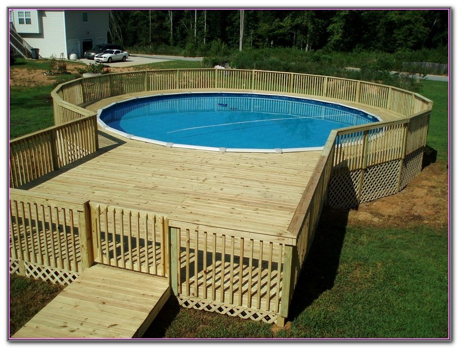 Above Ground Pool Deck Framing