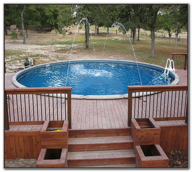 Above Ground Pool Deck Ideas Free