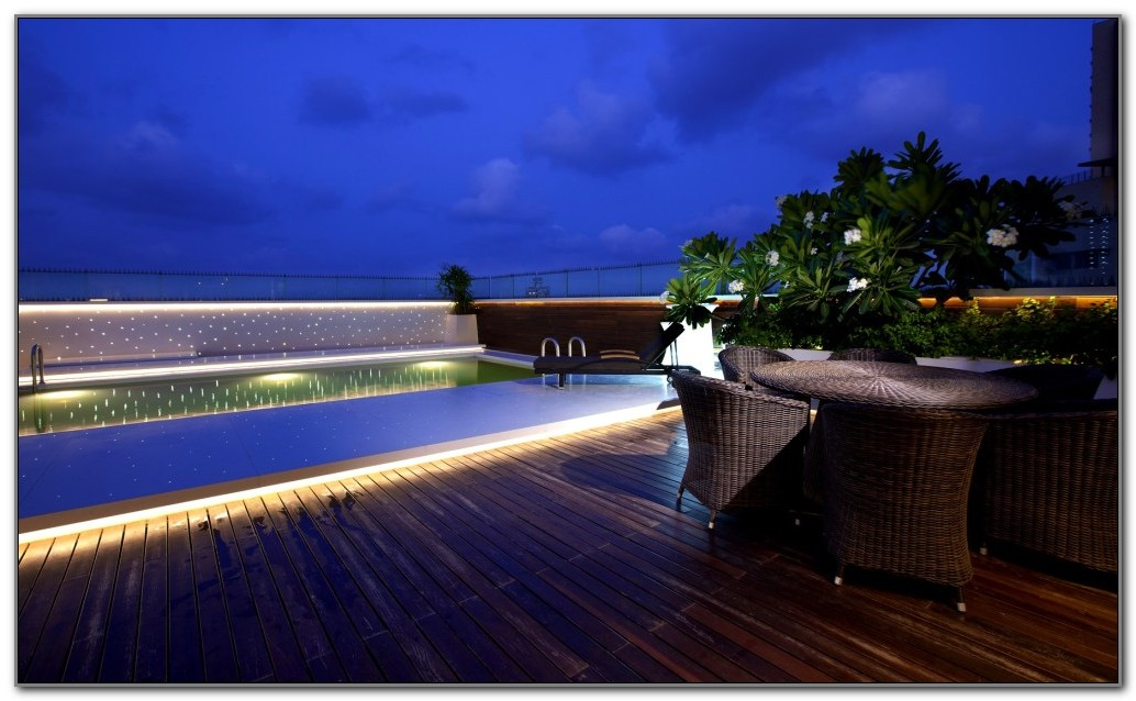 Above Ground Pool Deck Lighting Ideas