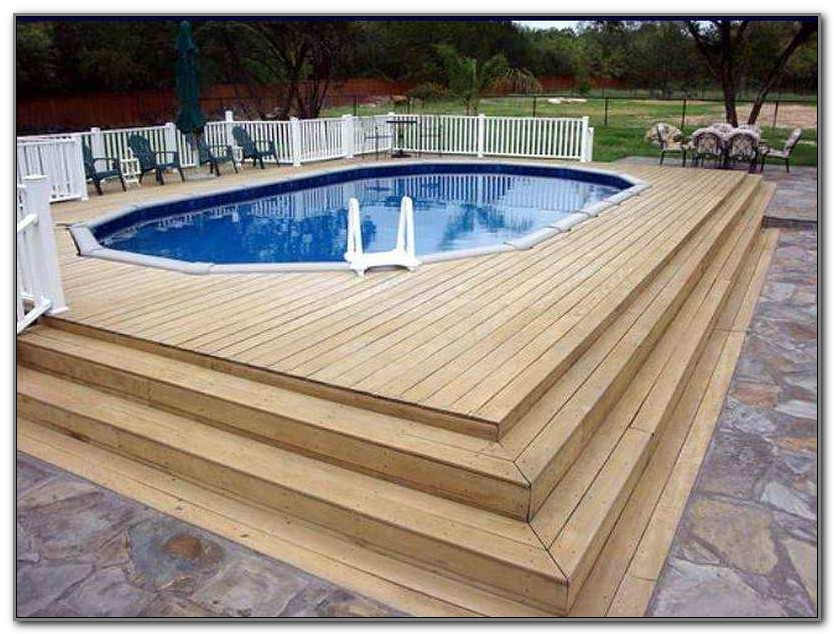 Above Ground Pool Deck Steps