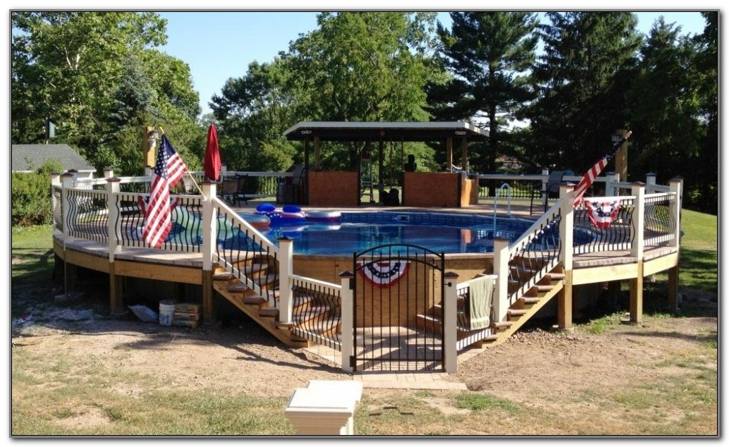 Above Ground Pool With Deck Winter Cover