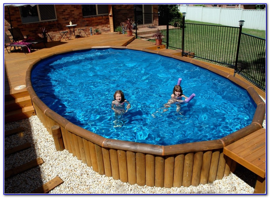 Above Ground Pools With Decks Installed