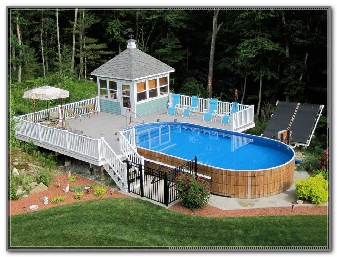 Above Ground Round Pool Deck Designs