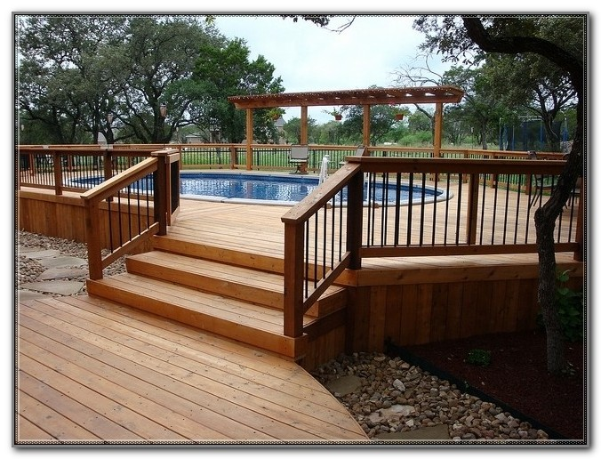 Above Ground Swimming Pool Deck Kits