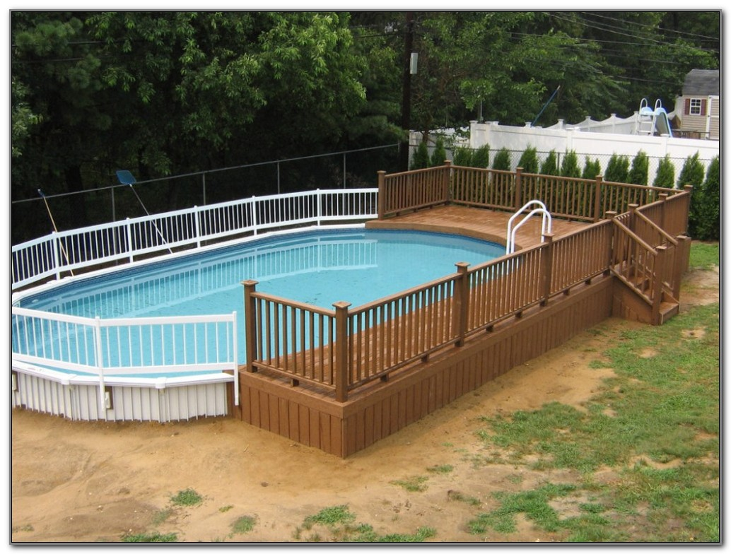 Above Ground Swimming Pool Decks Designs