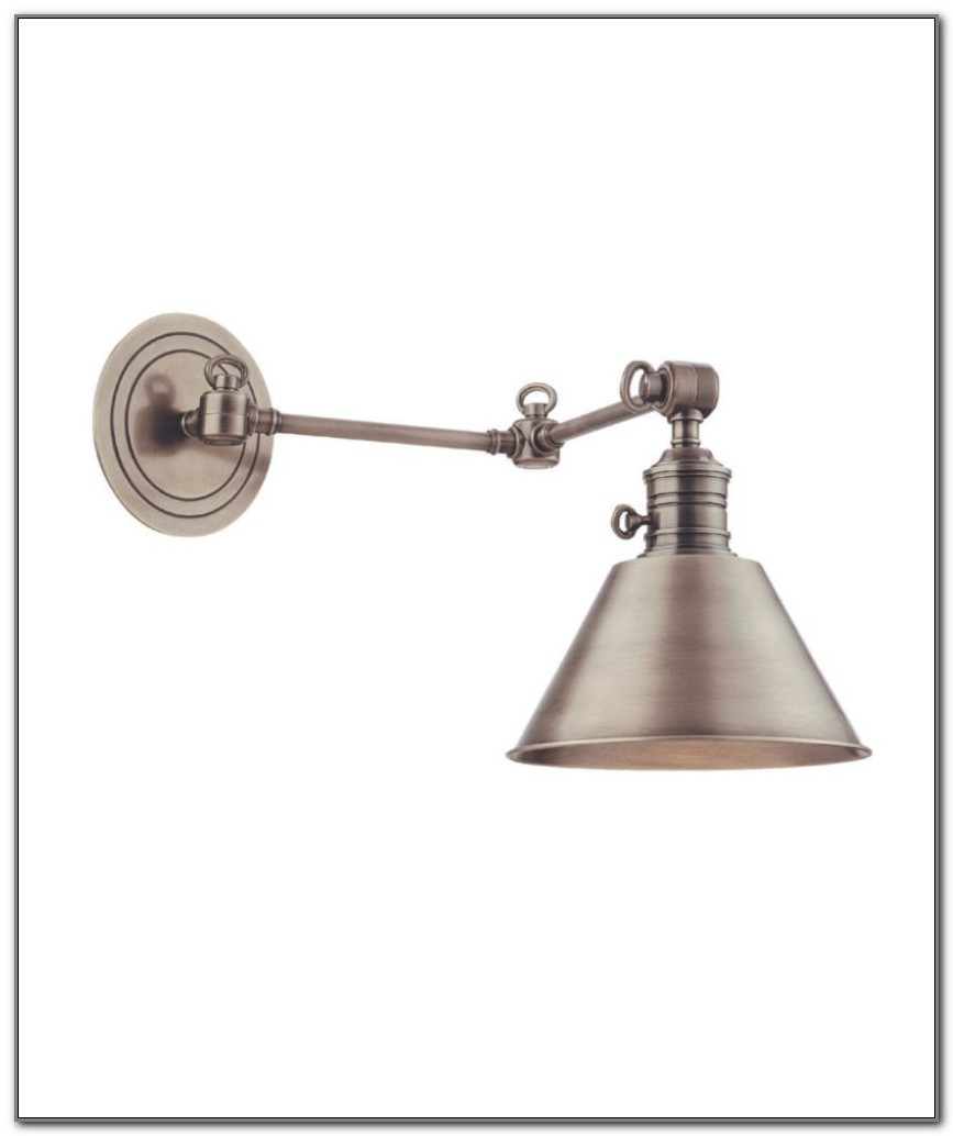 Antique Brass Swing Arm Wall Lamp