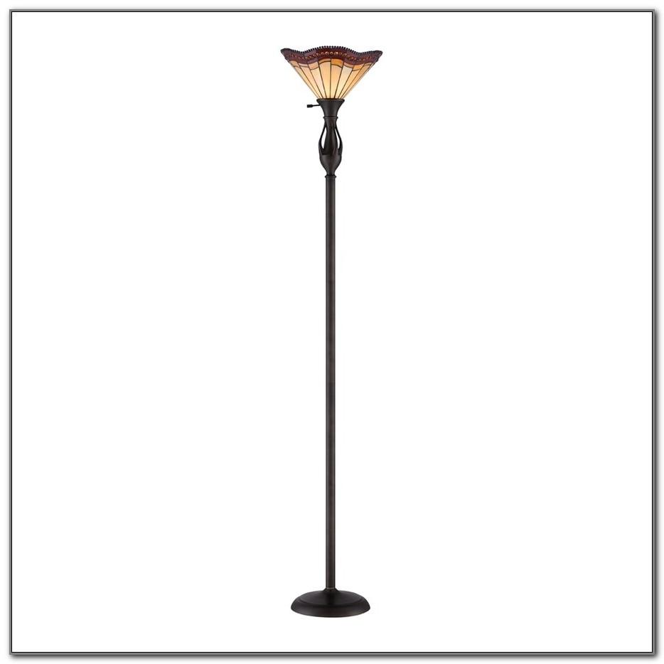 Antique Bronze Torchiere Floor Lamp