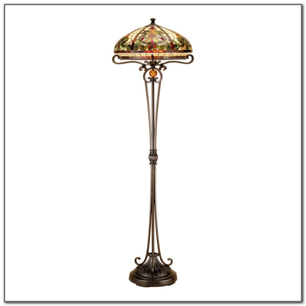 Antique Silver Torchiere Floor Lamp