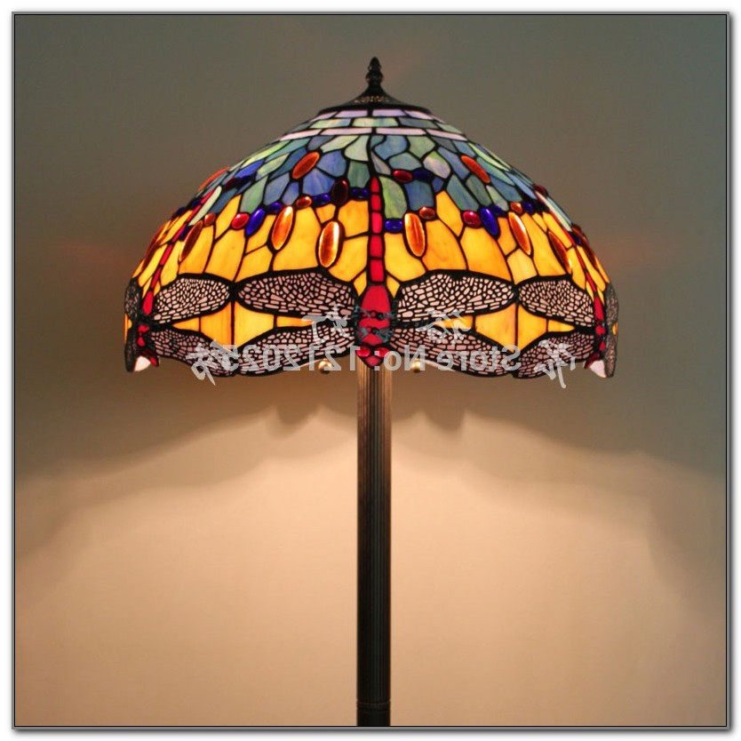 Antique Stained Glass Floor Lamps