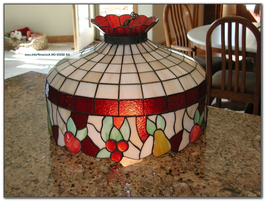 Antique Stained Glass Hanging Lamps
