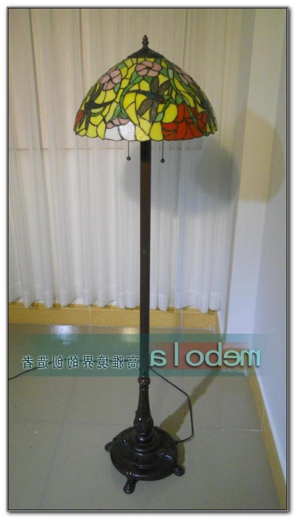 Authentic Tiffany Dragonfly Floor Lamp
