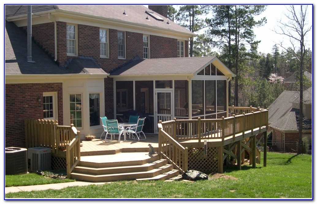 Backyard Covered Deck Designs