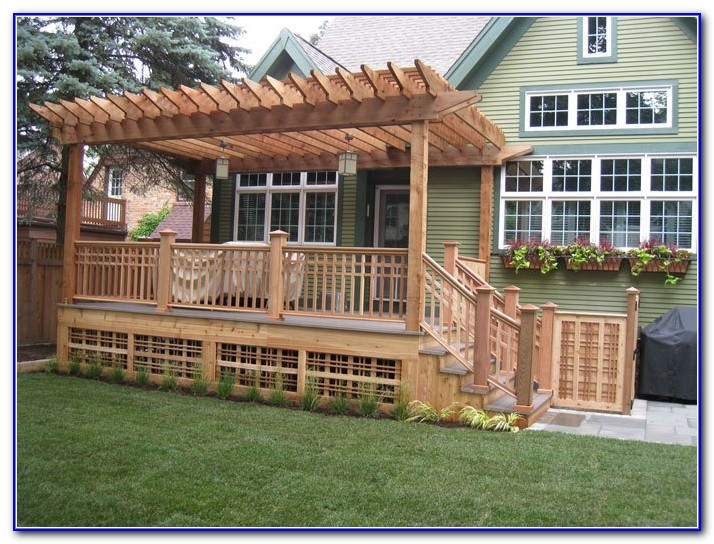 Backyard Decks With Pergolas