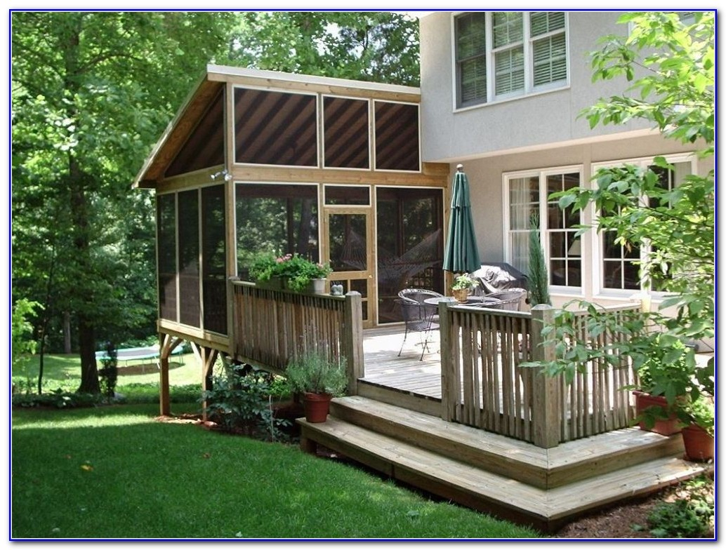 Backyard Decks With Roofs