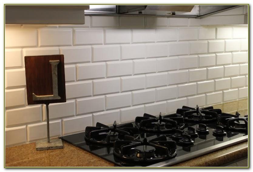 Beveled Subway Tile Backsplash Images