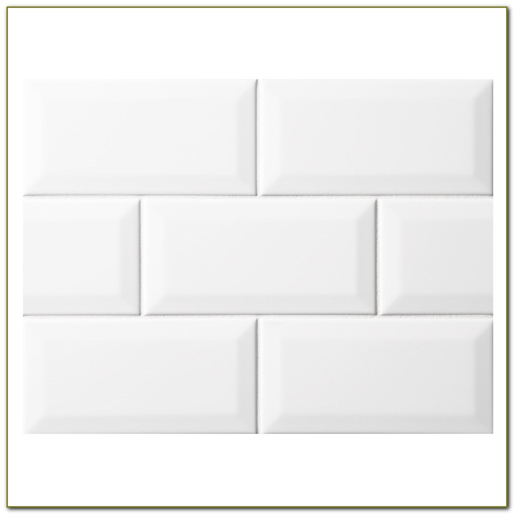 Beveled White Subway Tile