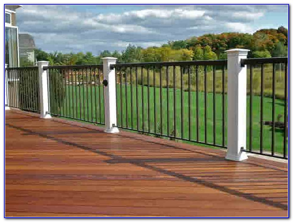 Black Iron Deck Railings