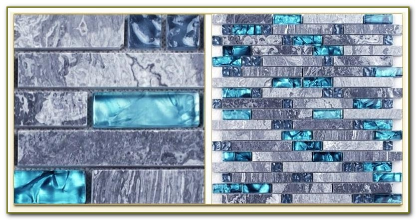 Blue Sea Glass Backsplash Tile