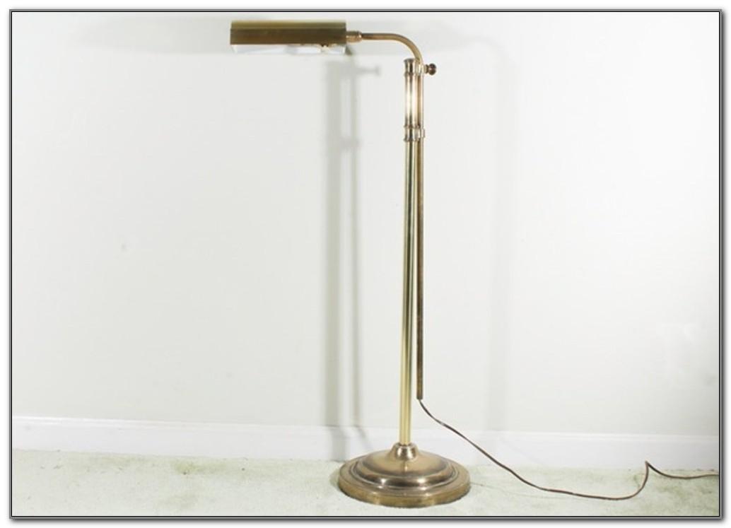 Brass Finish Pharmacy Floor Lamp