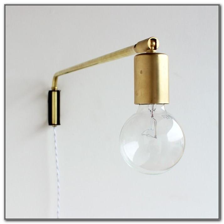 Brass Swing Arm Wall Lamp