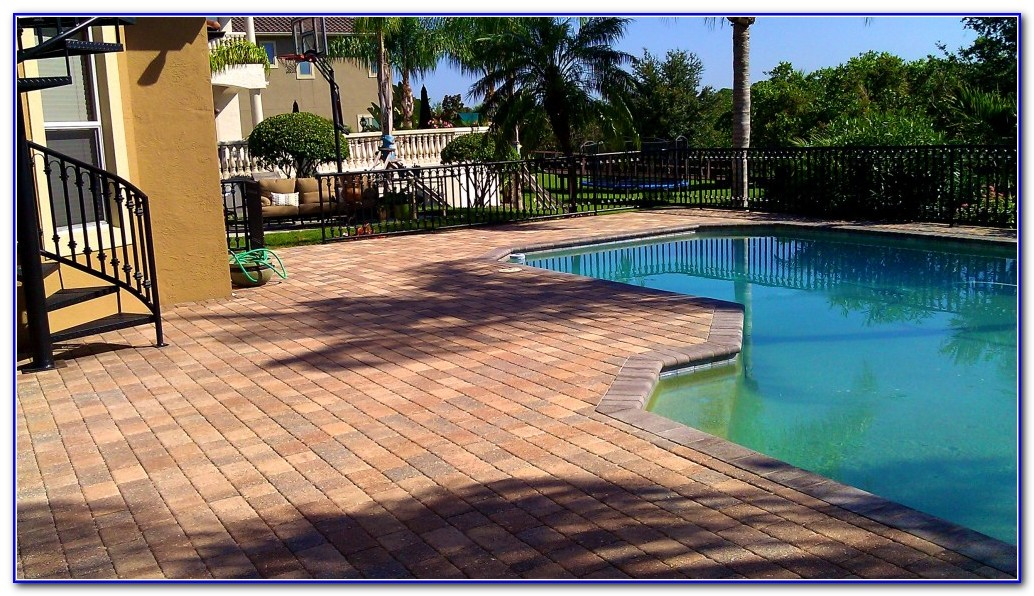Brick Pavers Pool Deck