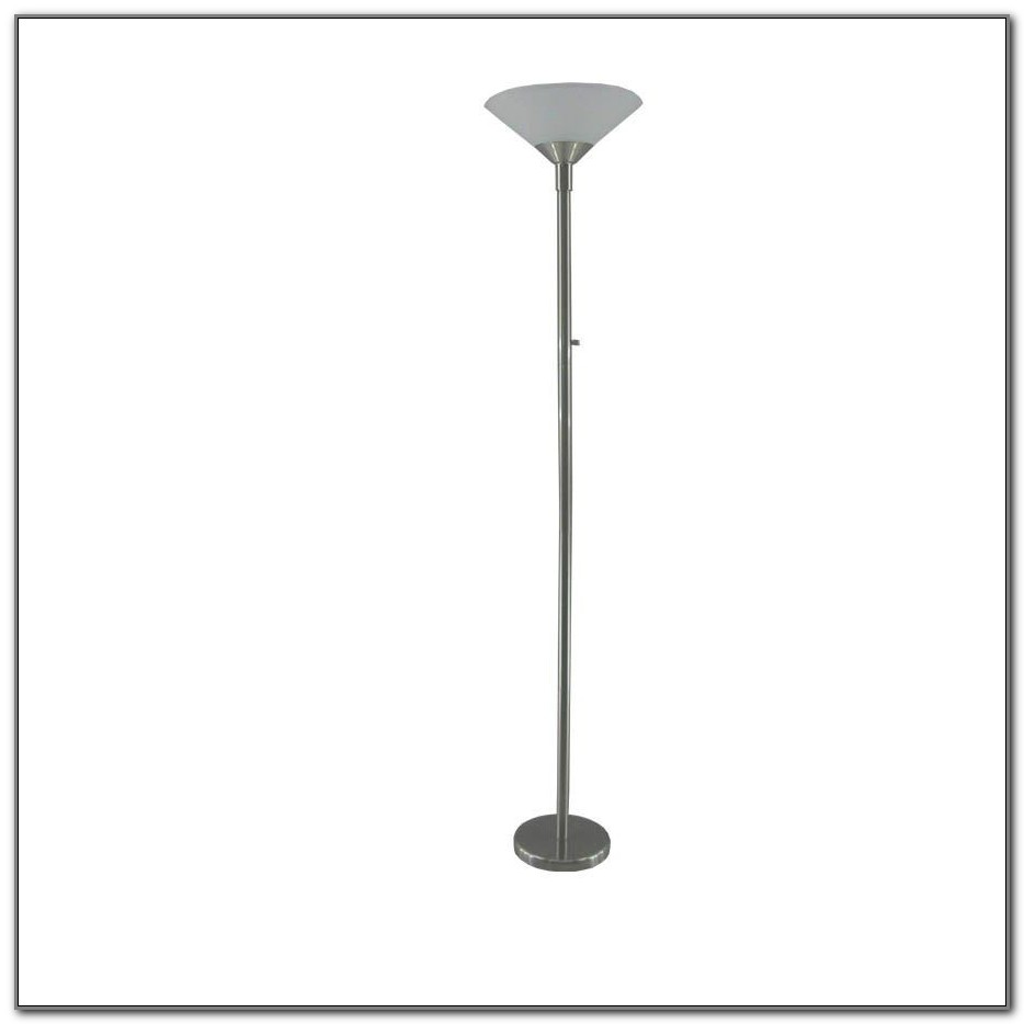 Brushed Nickel Floor Lamp With Shade