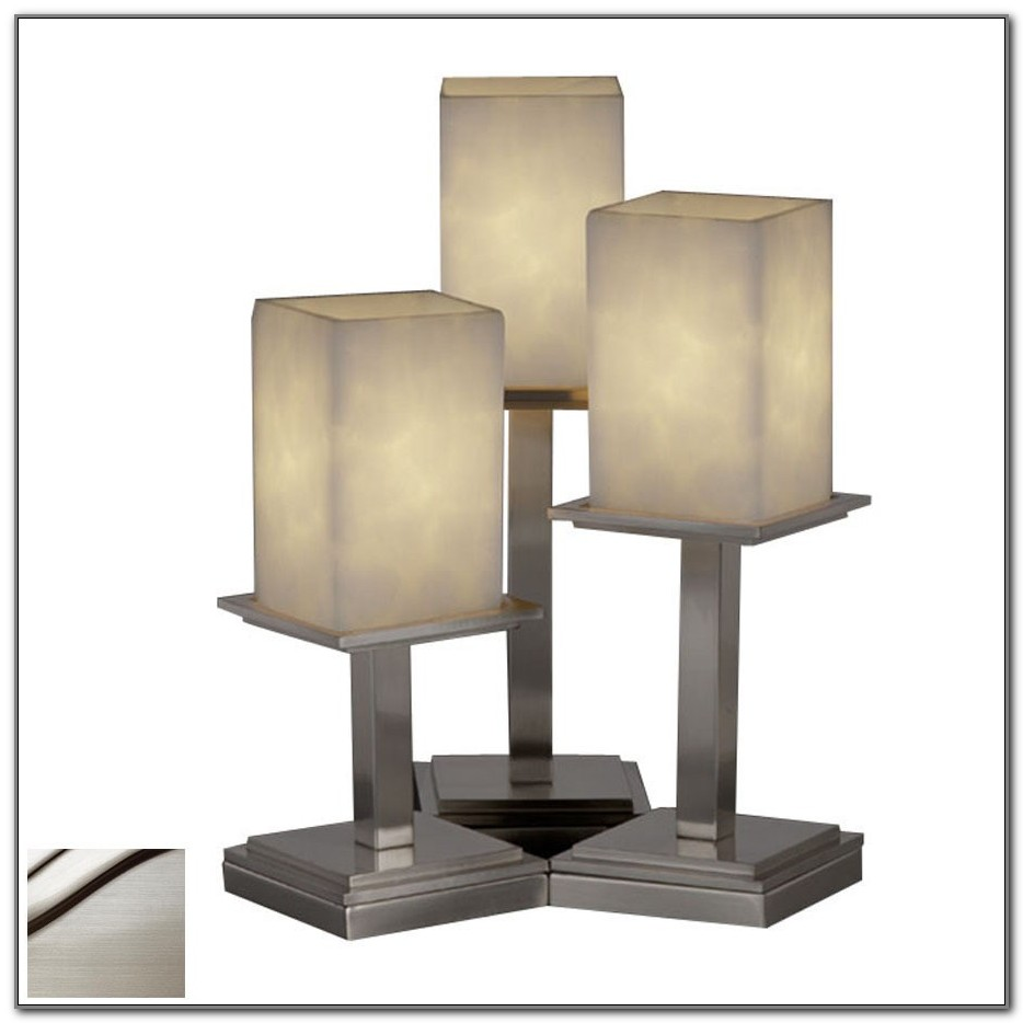 Brushed Nickel Touch Table Lamp