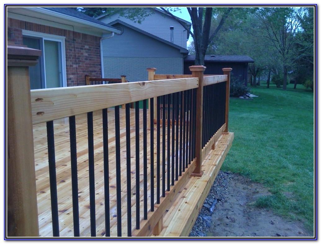 Build Deck Railing Metal Balusters