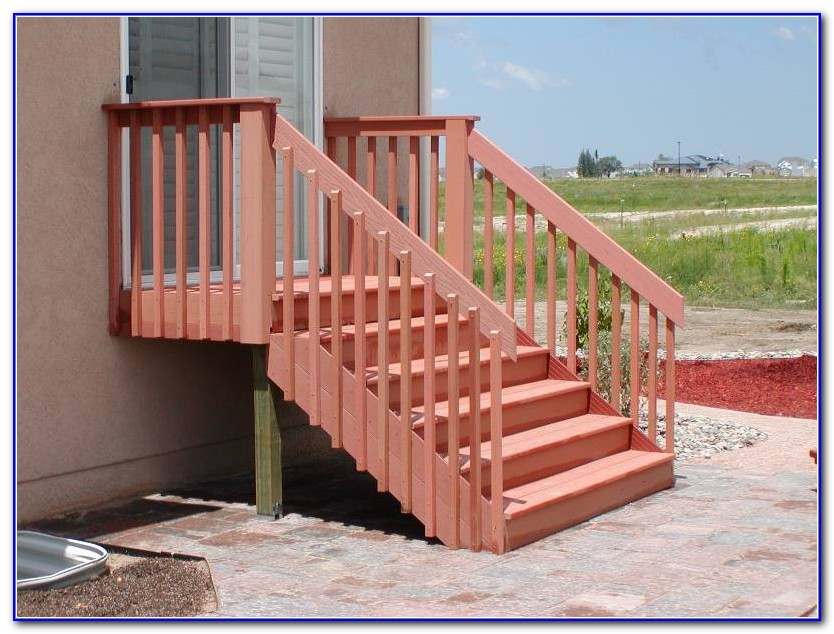 Building Deck Stair Railings