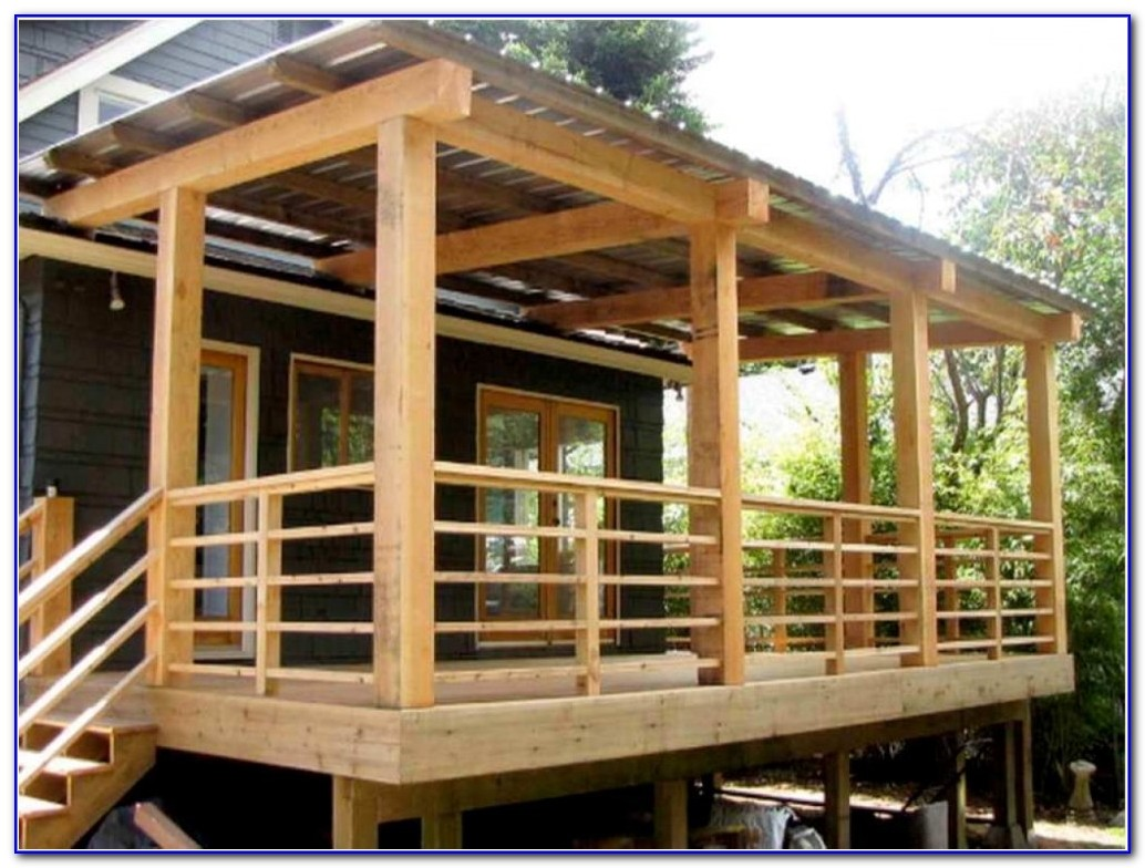 Building Deck Stairs Railing