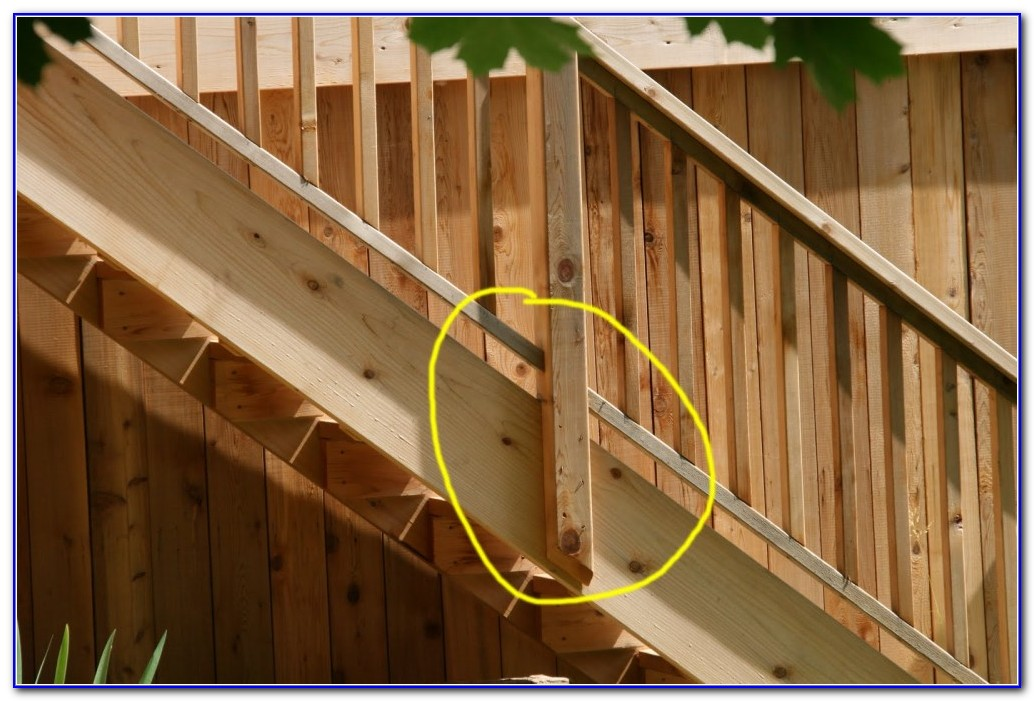 Building Wood Deck Railing