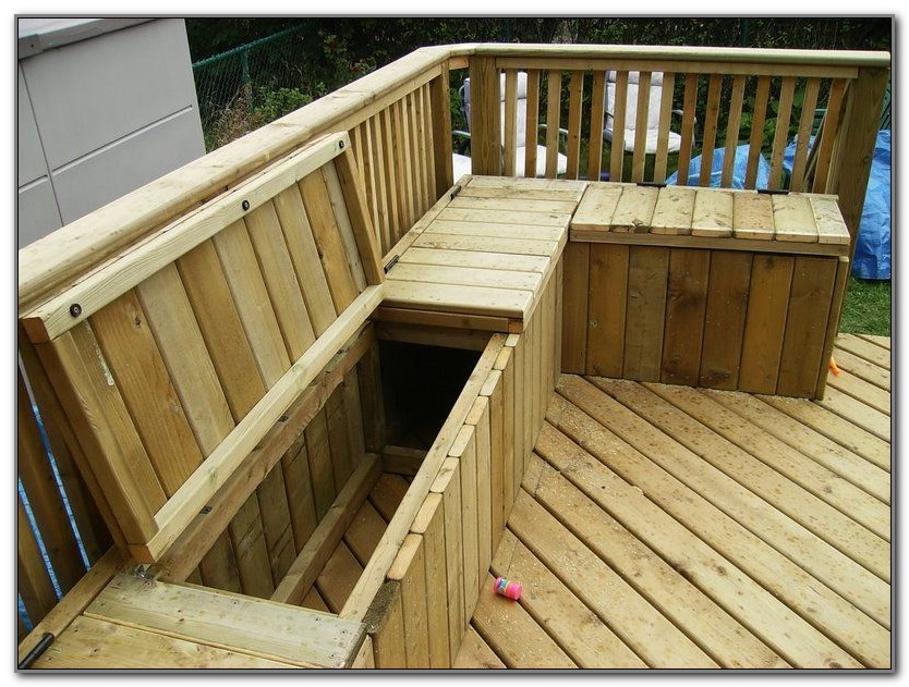 Built In Deck Bench With Back Plans