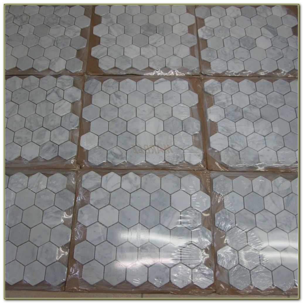 Carrara Marble Hexagon Floor Tile