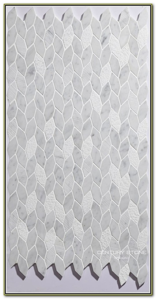 Carrara Marble Hexagon Tile Backsplash