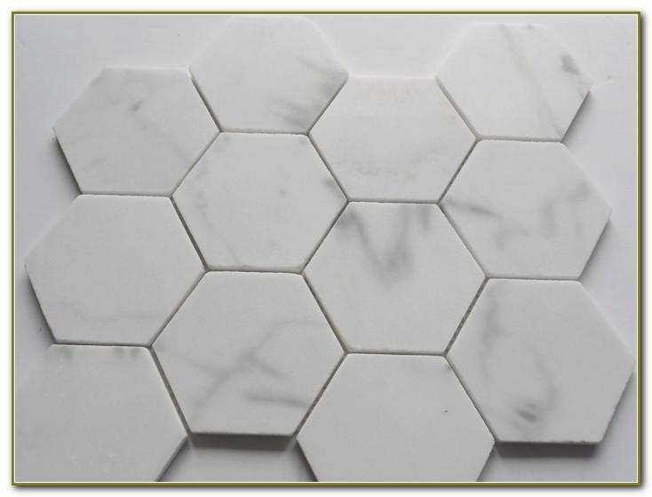 Carrara Marble Hexagon Tile Floor