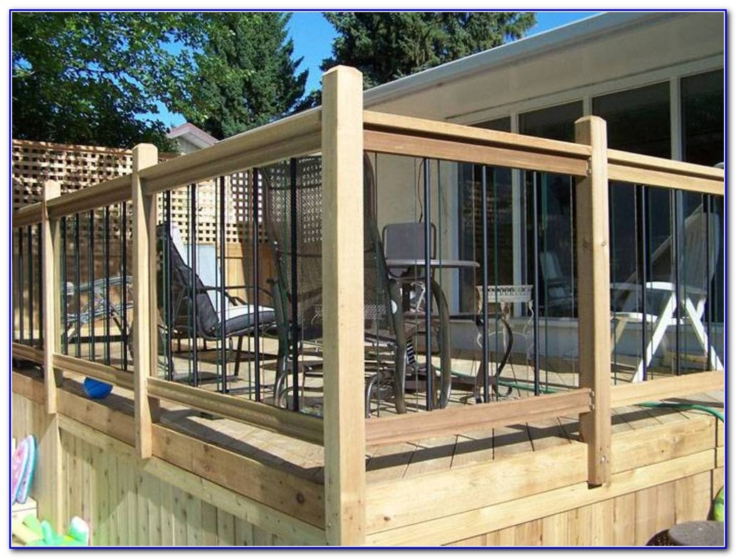 Cedar Wood Deck Railings