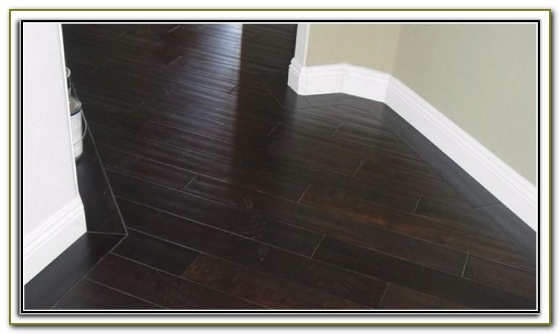 Dark Ceramic Tile Wood Plank