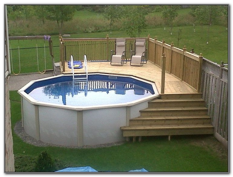Deck Above Ground Pool Ideas