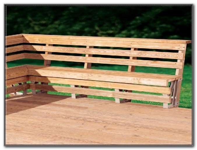 Deck Bench Seat Plans