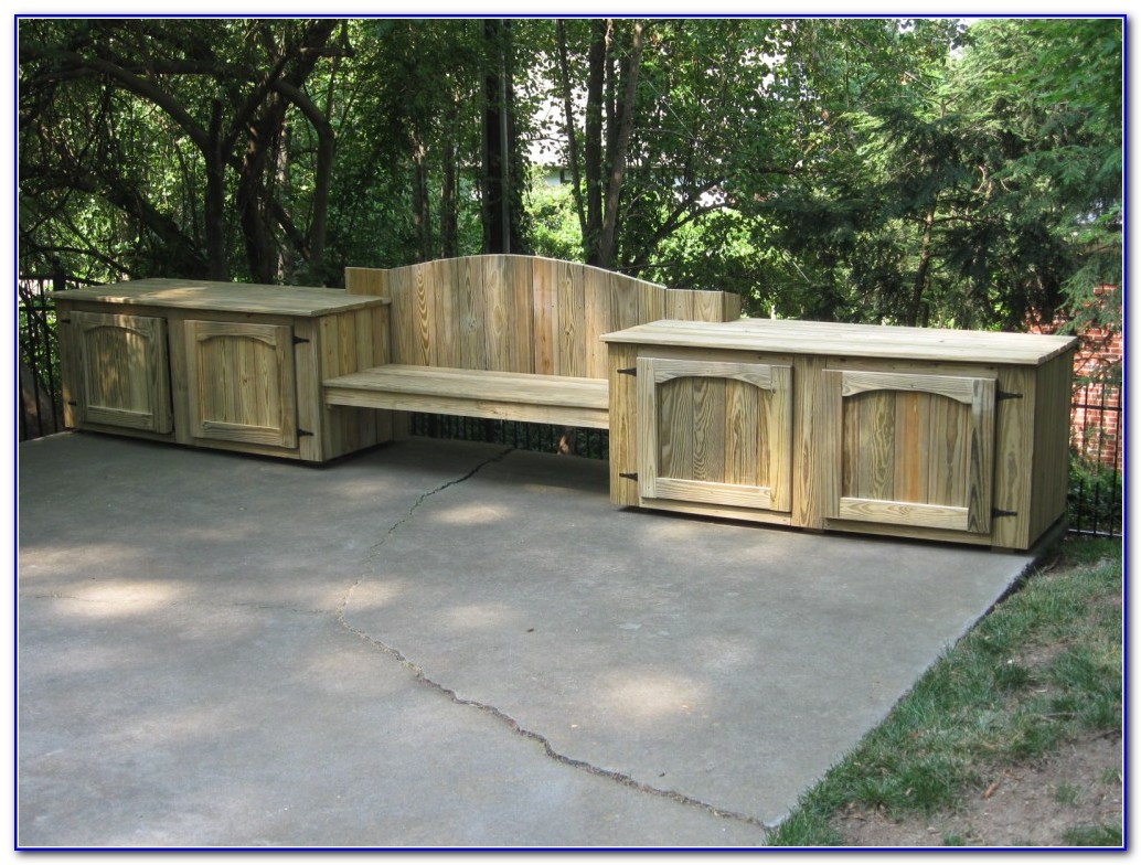 Deck Bench Seating With Storage