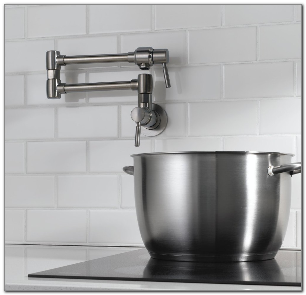 Deck Mount Pot Filler Kitchen Faucet