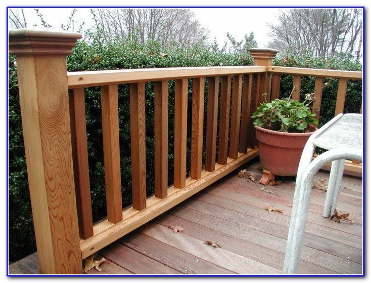 Deck Rail Ideas Wood