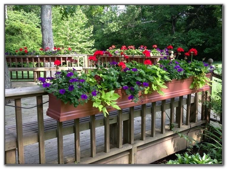 Deck Rail Planter Boxes Plans