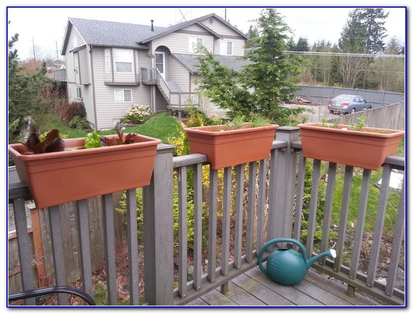 Deck Railing Planter Boxes