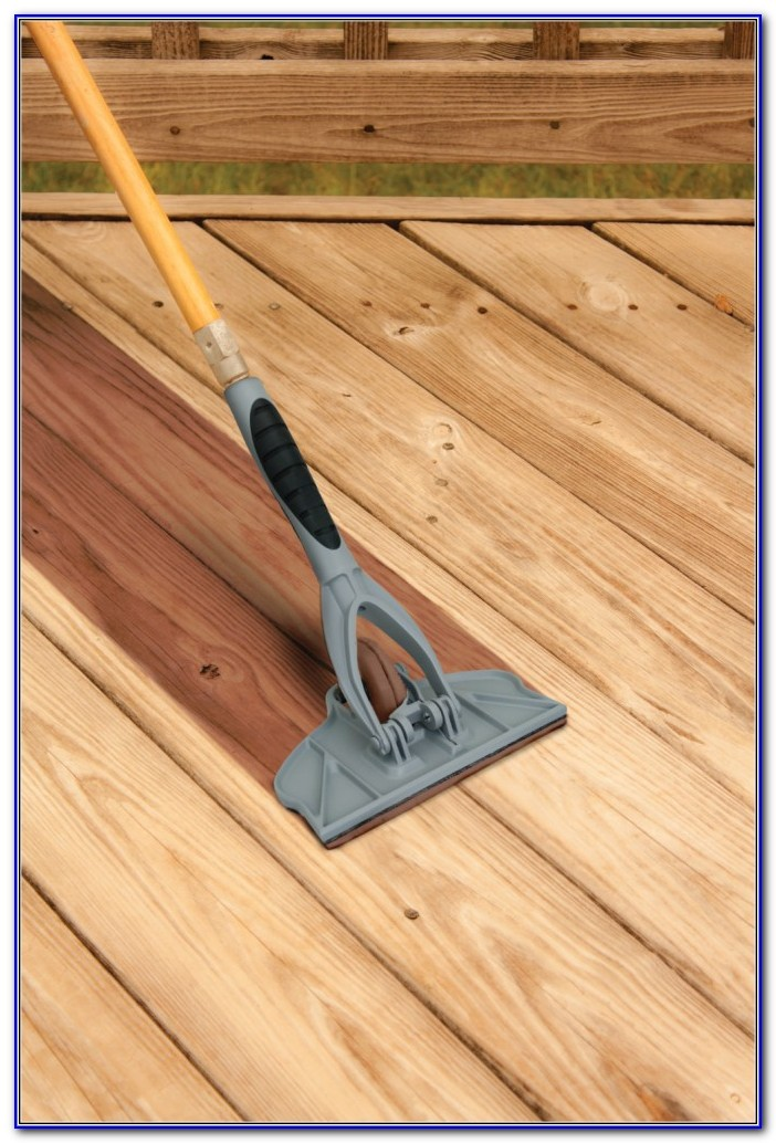 Deck Stain Brush Or Pad