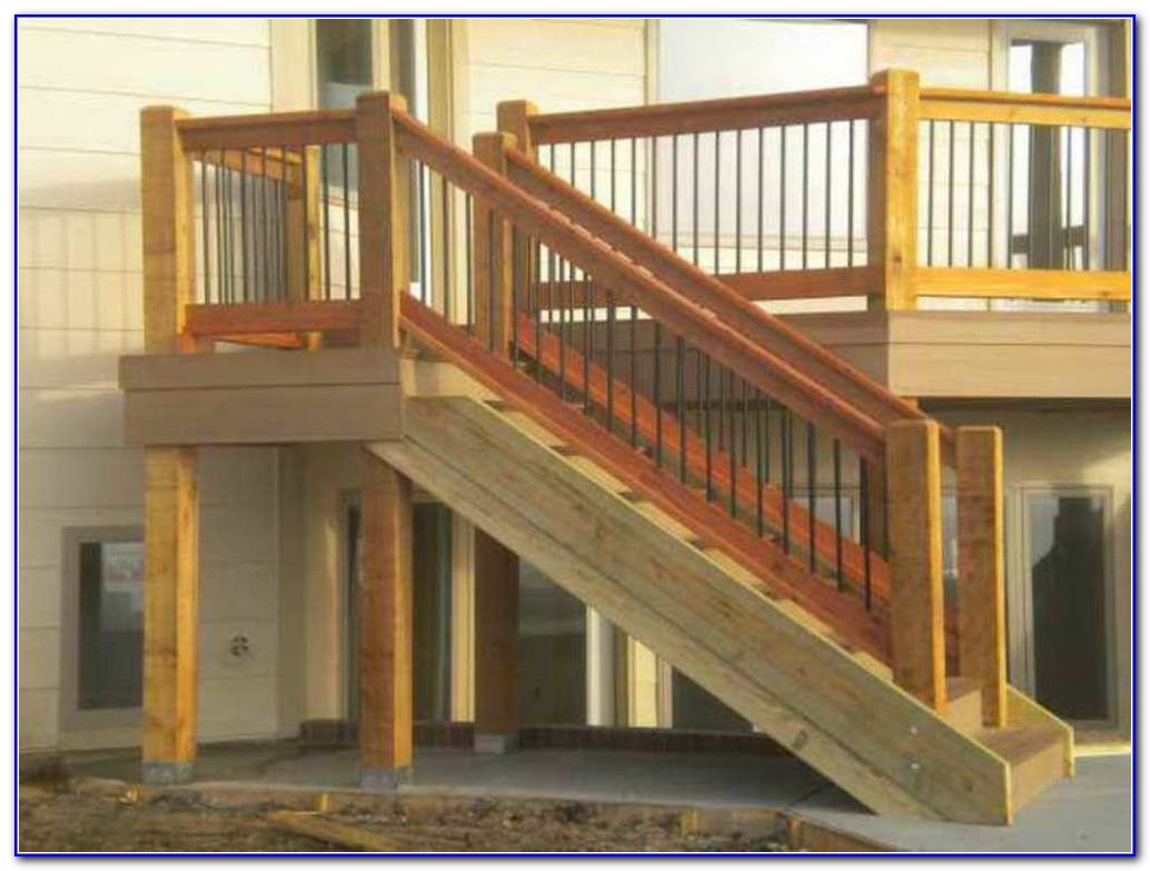 Deck Stair Railing Height Code