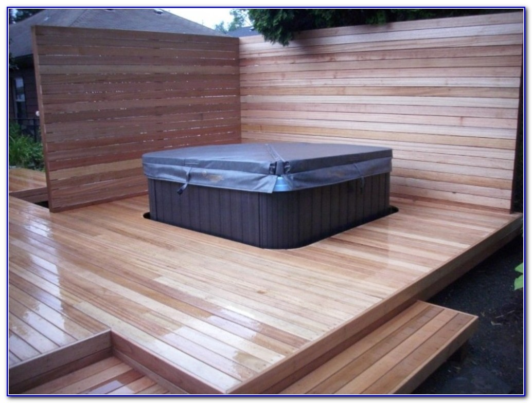 Decks With Hot Tubs Built In